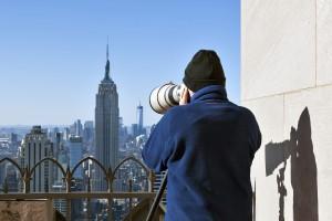 Lois Lammerhuber am 61. Stockwerk des Rockefeller Centers New York